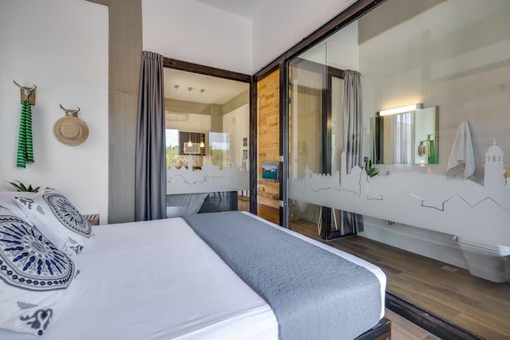 Rustic & Industrial Chania Apartment