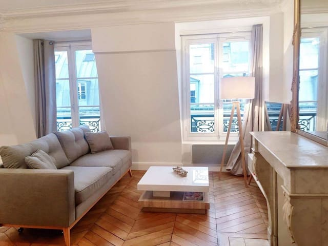 Charming and cosy haussmanian flat near the Louvre