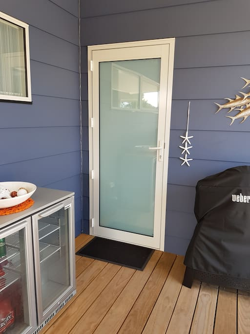 Private front door to your Airbnb space.
