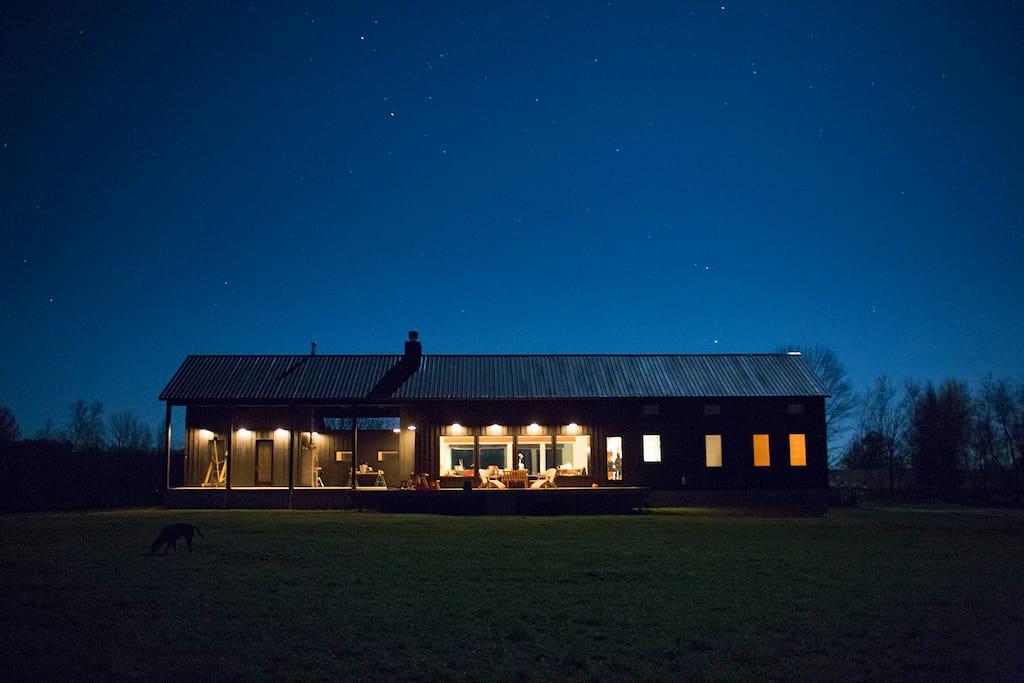 Black House, night.