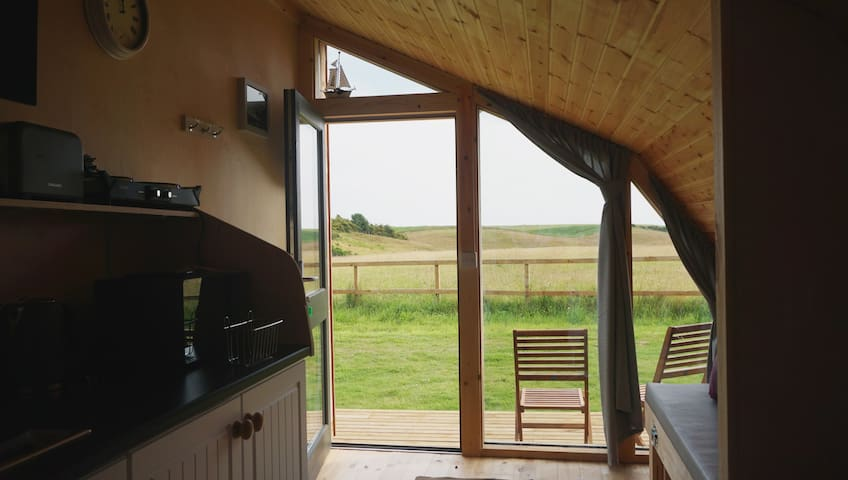 The Creel Luxury Glamping pod near Lunan Bay