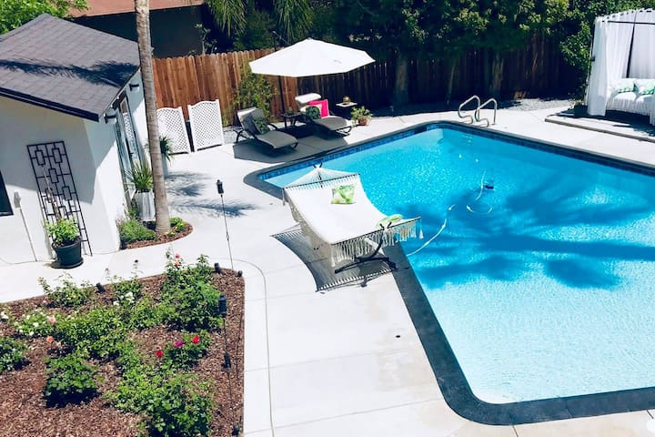 Poolside luxury suite offers a VIP experience
