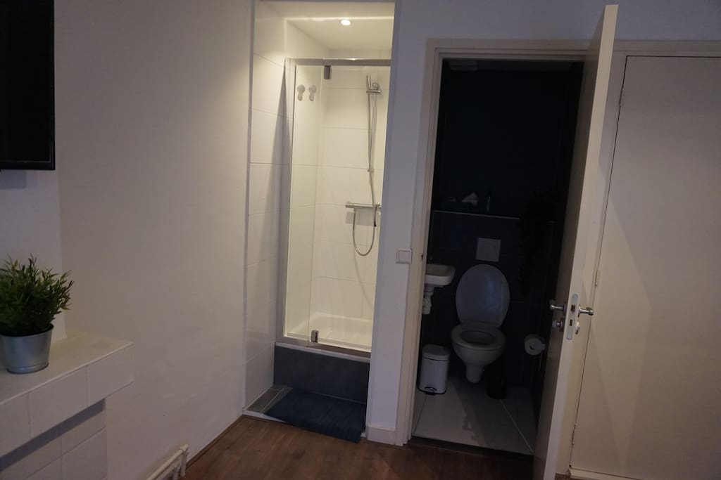 Private en-suite shower and wc