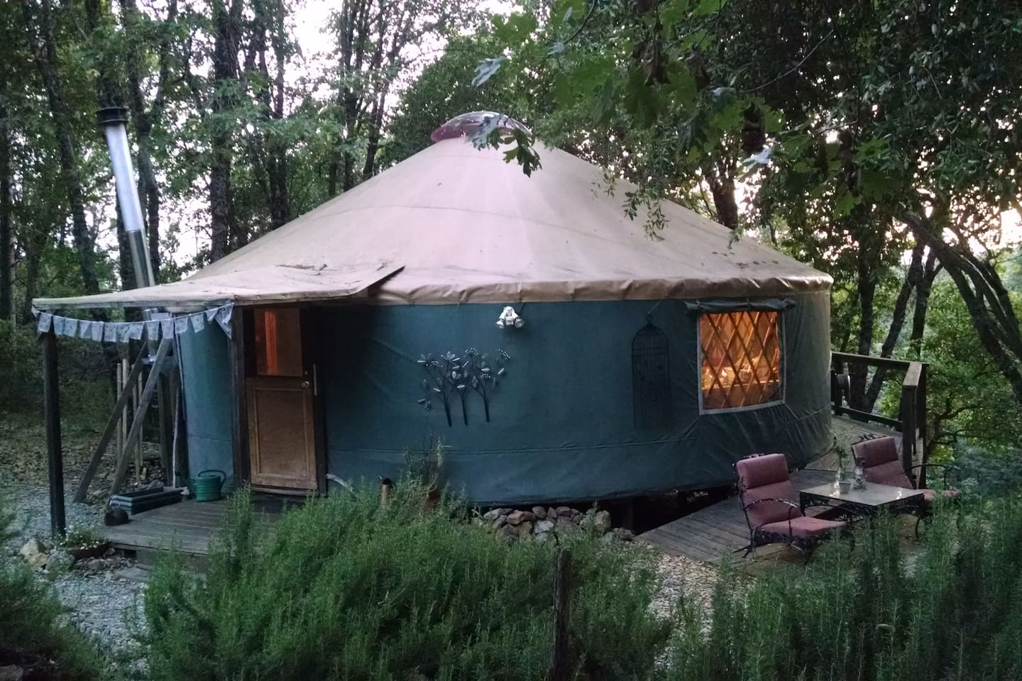 Taste the magic of peaceful living in the round at the Yuba Yurt in the Sierra Foothills . . .