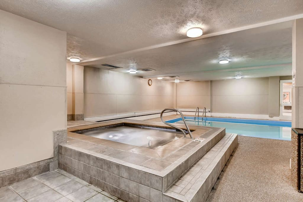 Community Indoor Hot Tub and Pool and Dry Sauna ...relax after a day in Breck