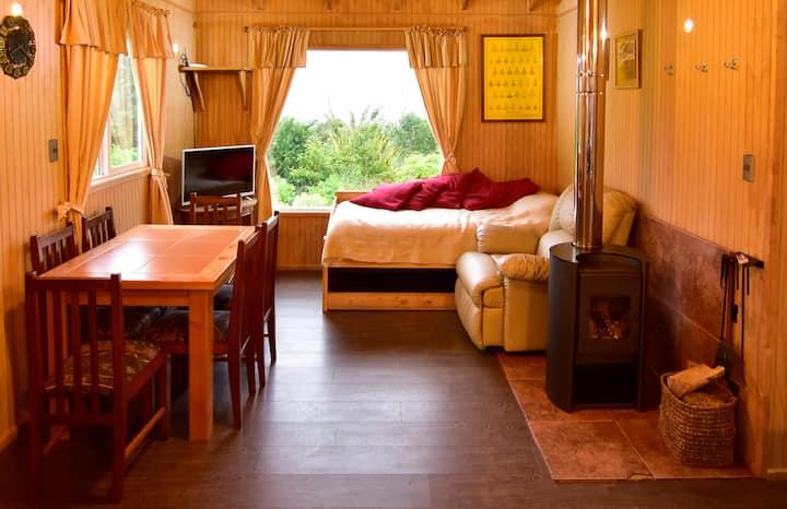 Acogedora Cabaña Nueva en Ancud, Chiloé.