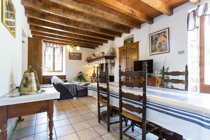 grand appartement dans maison de style basque