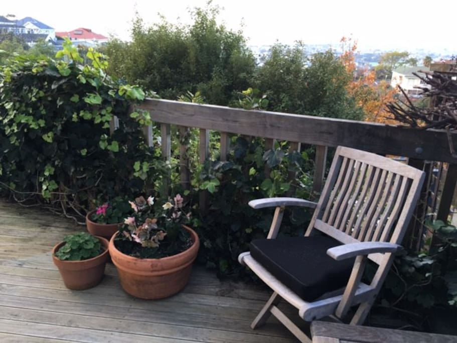 Private deck : take in the views of Napier below
