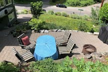 Enjoy our serene patio and you just might hear the neighborhood owl, Horton, hooting Hello!