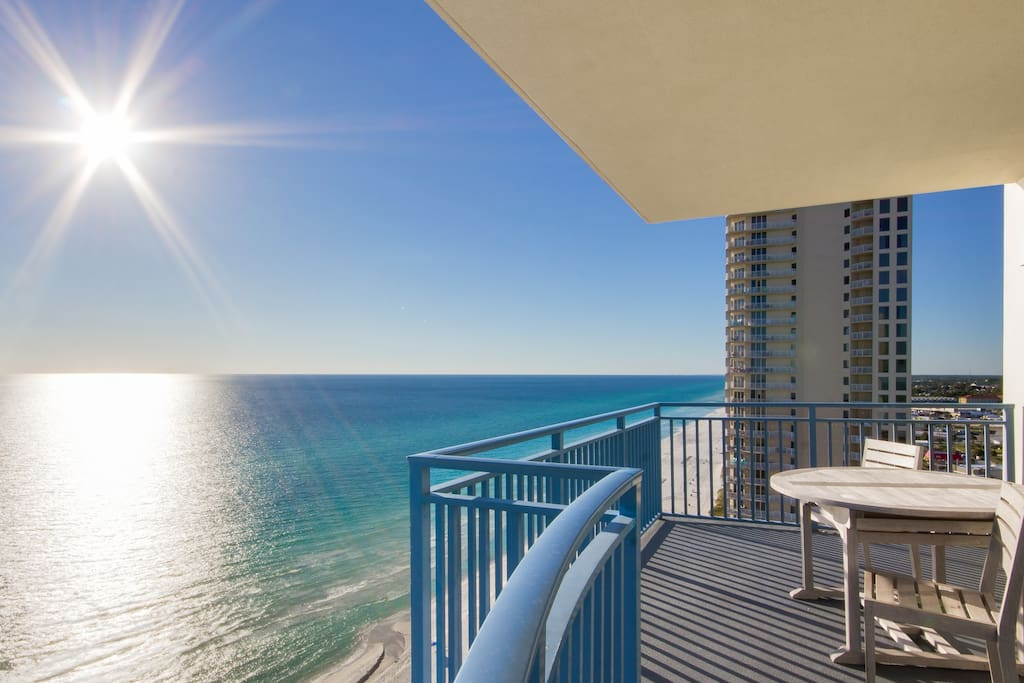 Step right out on to your expansive balcony with ample seating for everyone