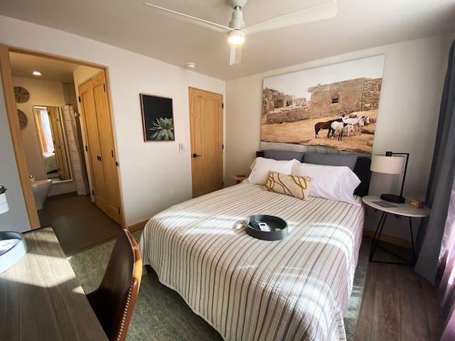 cozy, private bedroom in quiet, historic Santa Fe neighborhood