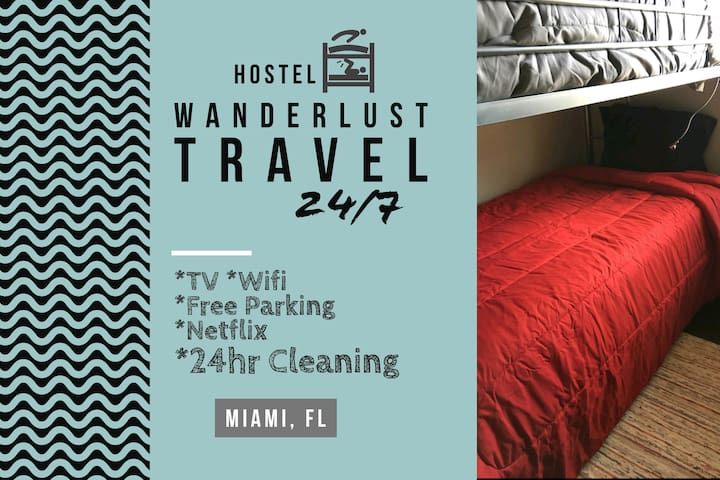 ***DormStyle Room 9 Mins from Wynwood A4***