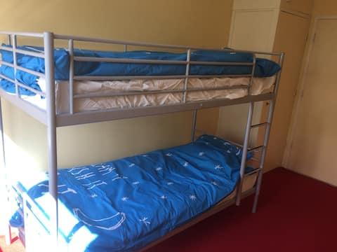 Amsterdam bedroom with Ikea bunkbed