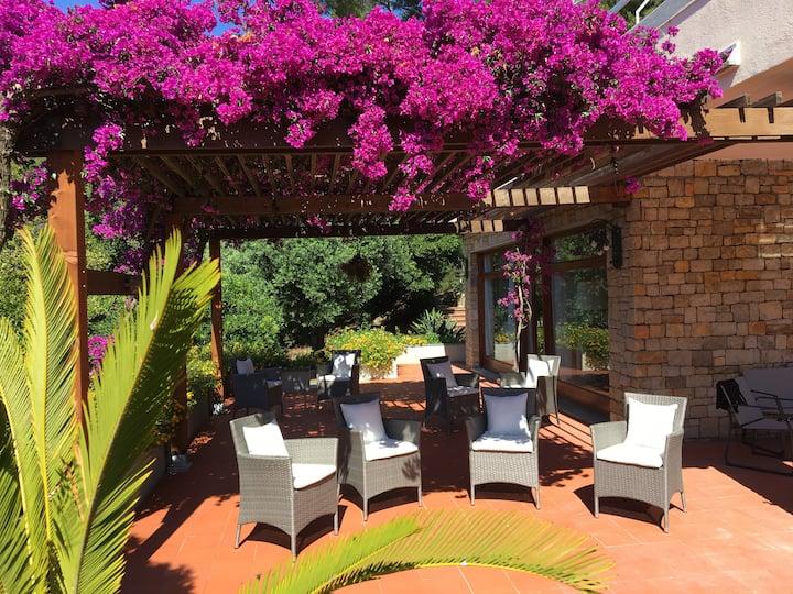 Splendida villa con piscina privata nella pineta