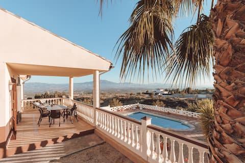 Spacious quiet villa with private pool & gardens