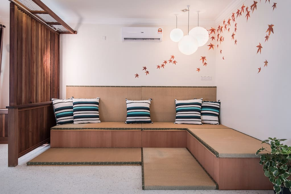 Living Hall with Japanese Tatami.