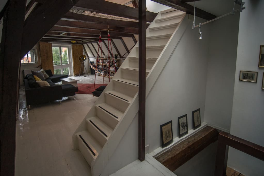 Livingroom with stairs to the other floors