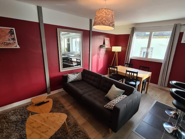 Bel appartement Duplex plein centre de Chateaulin