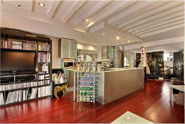 Lovely Loft style duplex apartment/ heart of Paris