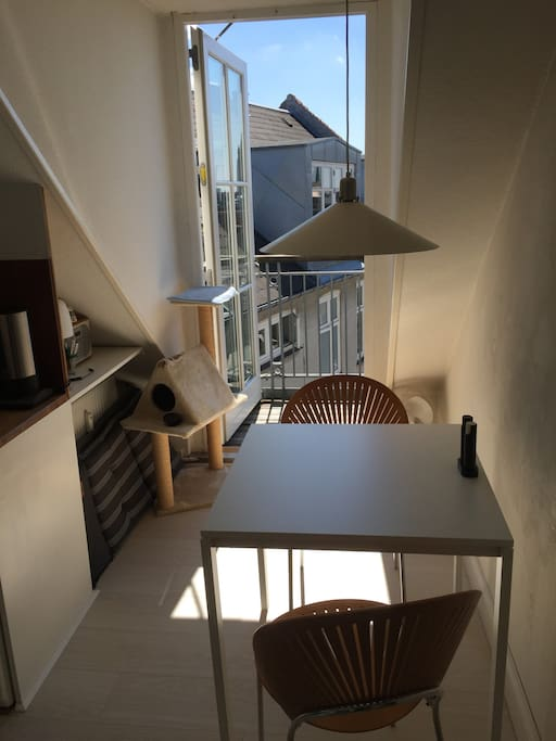 Dining area for two in the kitchen
