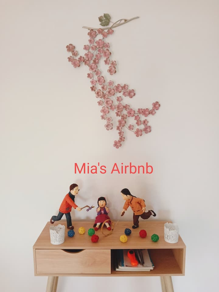Make your stay more memorable with Mia's Airbnb!