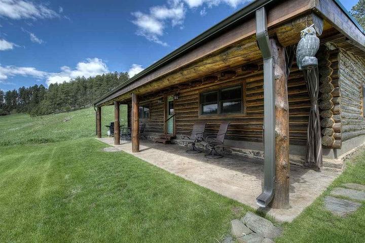 Authentic Black Hills Creekside Cabin Near Nemo