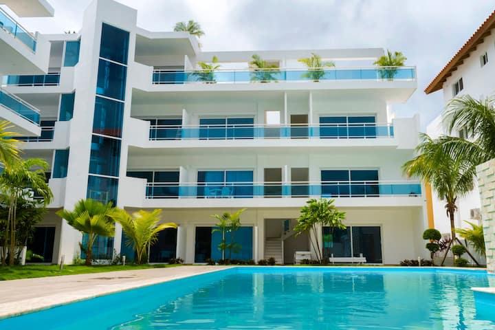 Baya Azul-Attico 3 camere e terrazza con jacuzzi