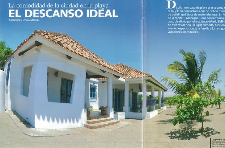 Casa Blanca Tecolapa Beach - Pochomil - Talo