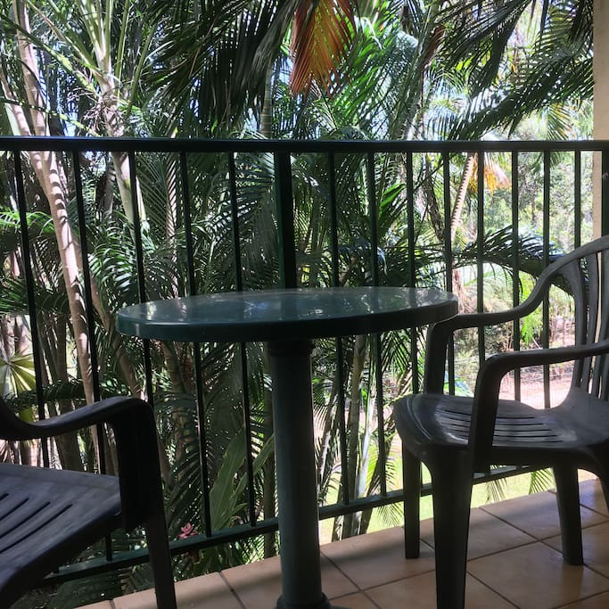 Private balcony overlooking the tranquil Botanical Gardens