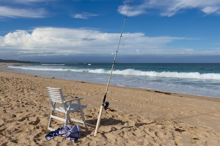 Fishing is a great way to relax during your stay with us. This is within 100 steps of our backyard.