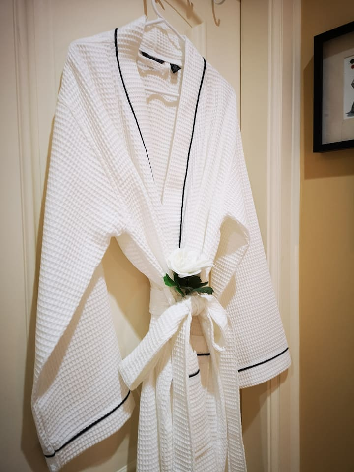 A cozy bathrobe.