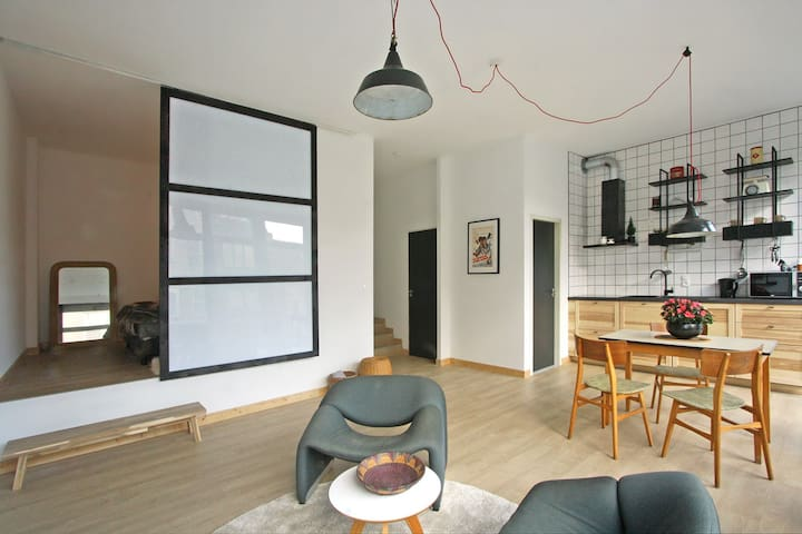 Trendy appartment close to citycenter - Gent - Kondominium
