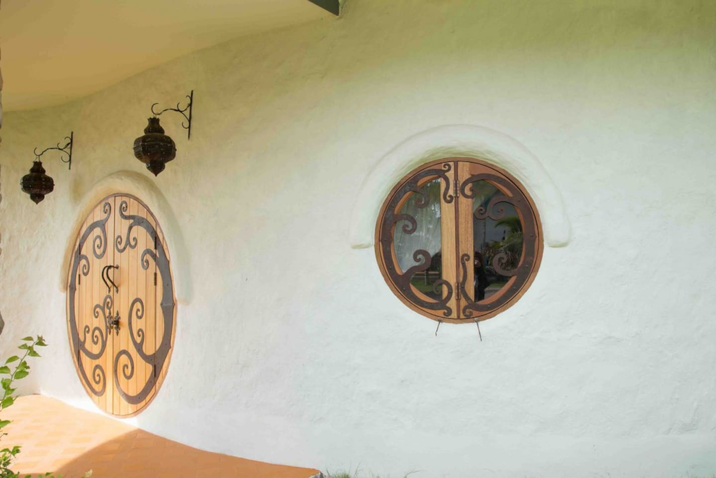 Custom Designed Doorway of the Hobbit Villa