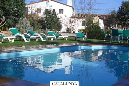Majestic Catalan mansion in Riudarenes for 20 guests, located just outside of Girona - Costa Brava - 獨棟