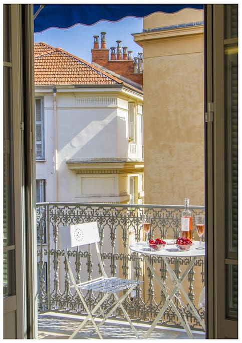 Prepare to spend several nights on the balcony. The perfect place for a glas of wine.