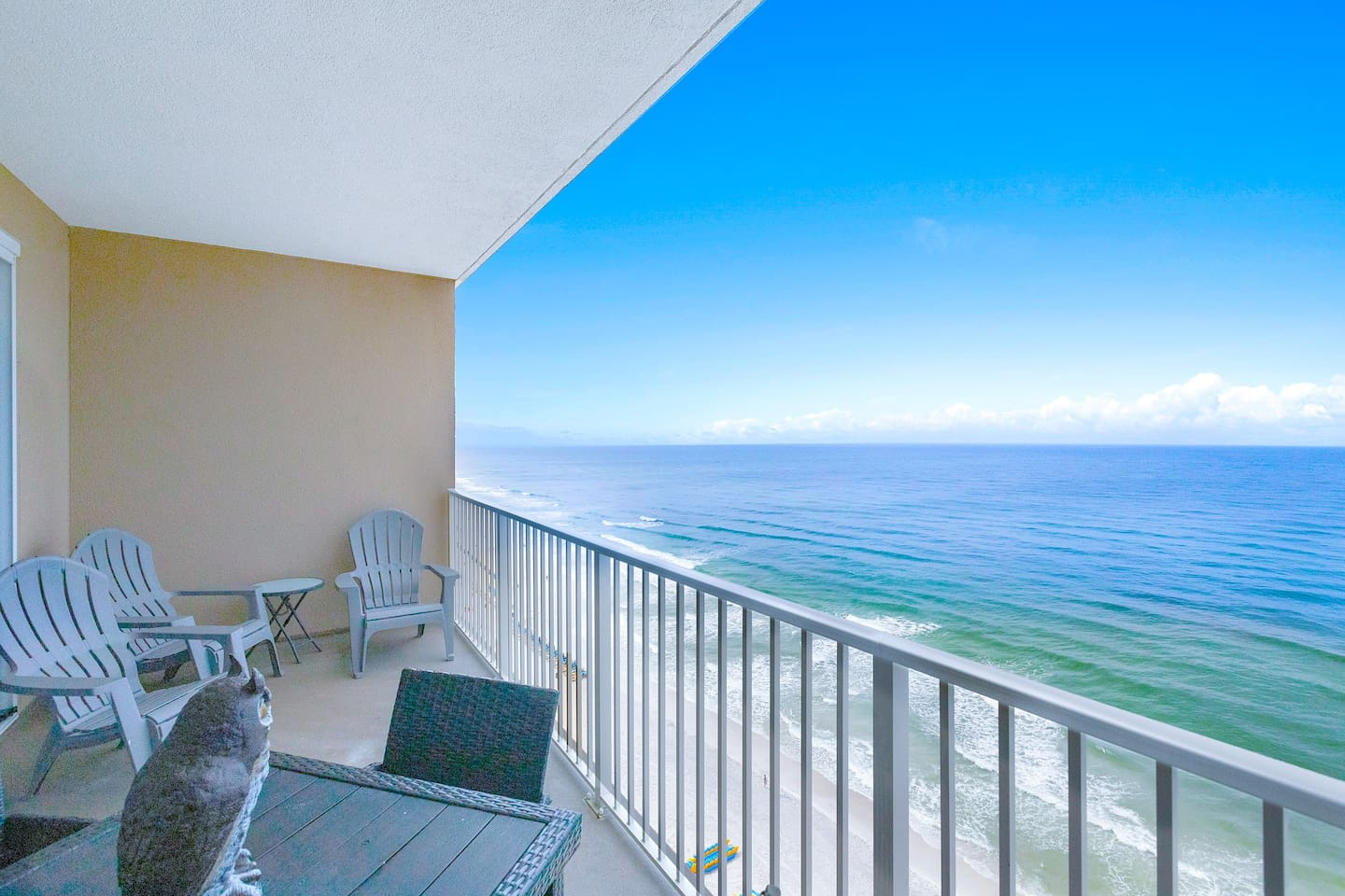 Relax, dine or entertain on the spacious balcony