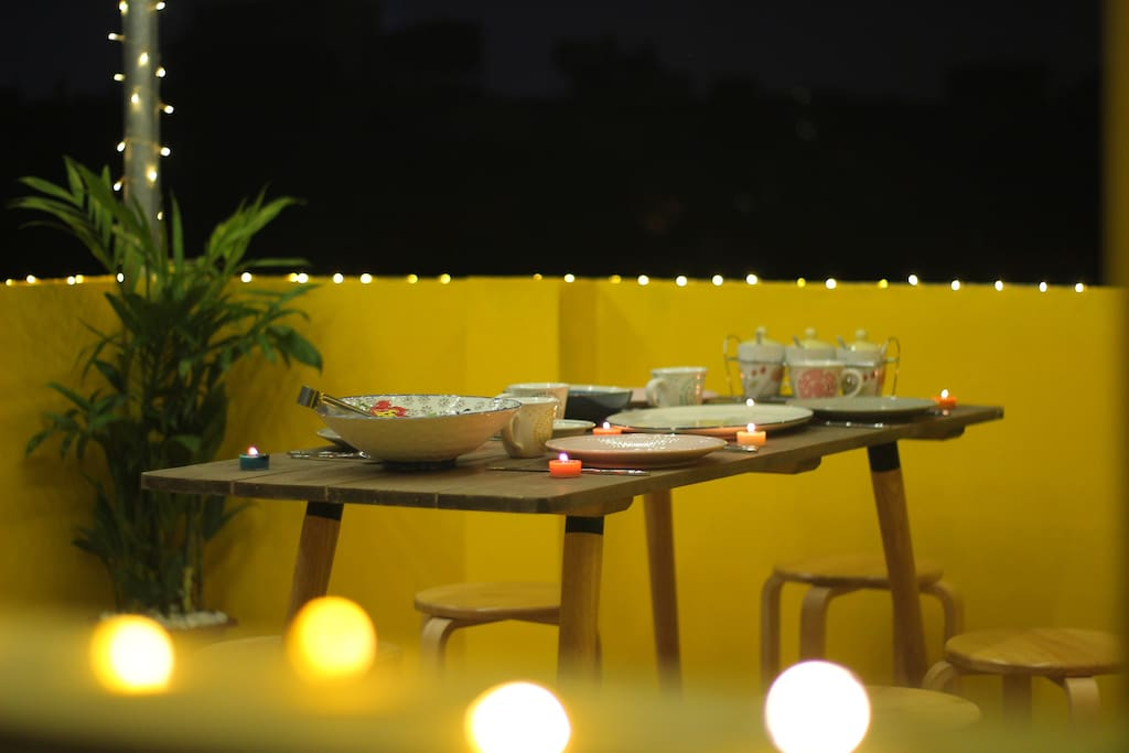 How abt having romantic dinner or BBQ on rooftop?