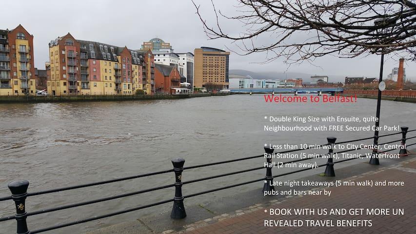 Private bedroom in heart of Belfast, Free Parking - Belfast - Apartament