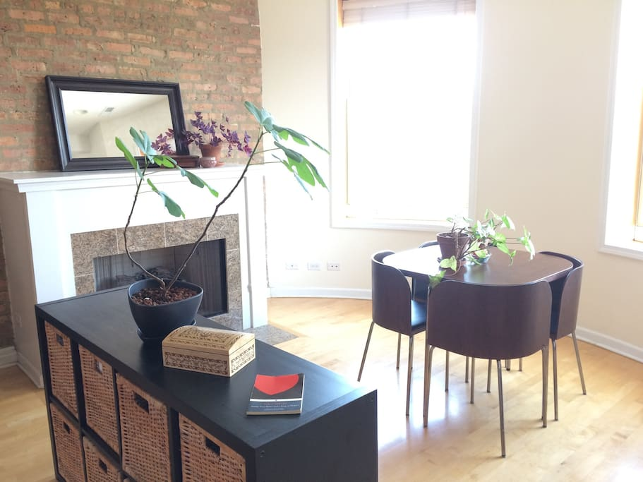 This is the most light-filled, bright and sunny Chicago apartment I've ever known.