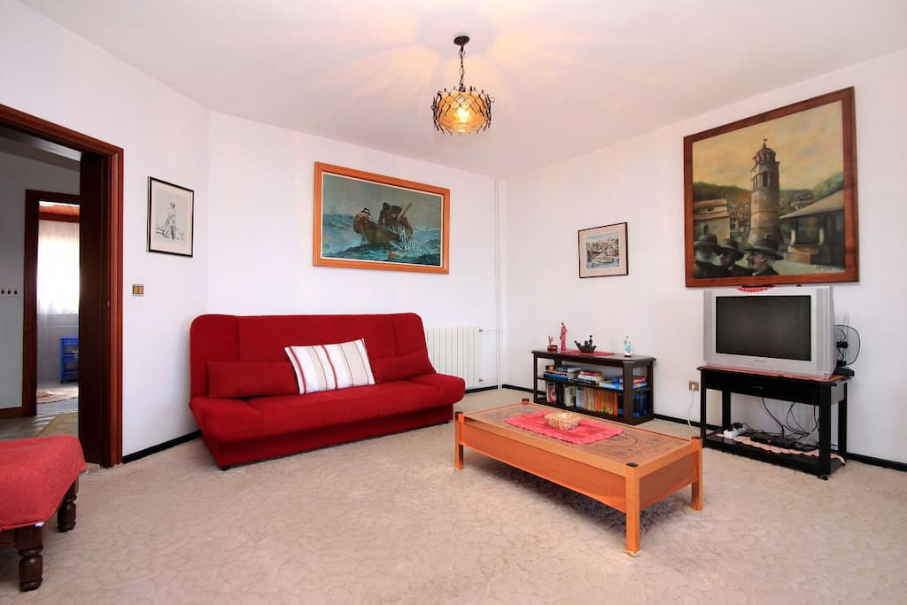 Living room, Surface: 28 m²