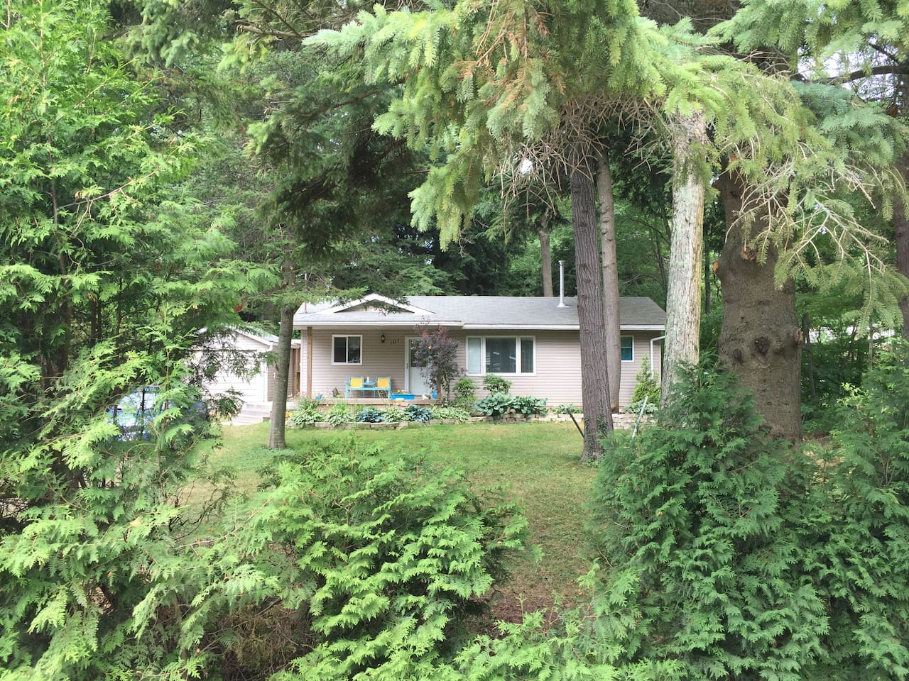 Large, private, peaceful property within a short walk to the lakeshore.