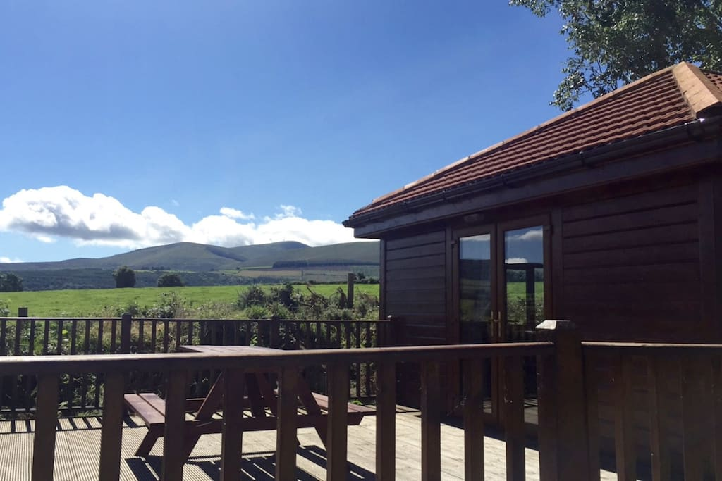 Views of Mt.Leinster from cabin