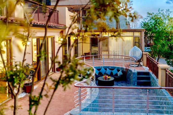 观云度假⛱️ 大理洱海半山海景别墅8号|浪漫庭院唯美日落|超大厨房餐厅|密码入住多套房源