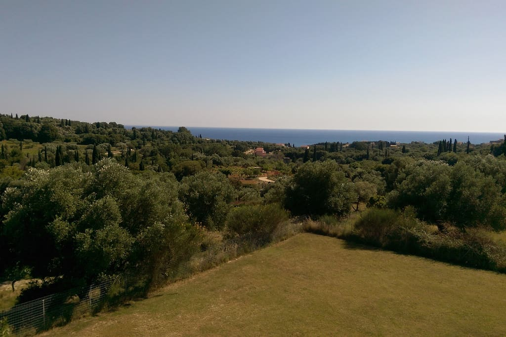 View from villa to  sea.