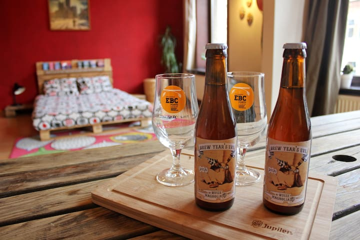 Brewery Magnolia offers large room - Gent - Daire