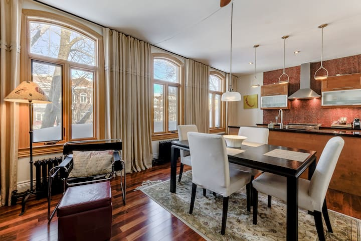 WARM AND SPACIOUS APARTMENT CLOSE TO OLD QUEBEC