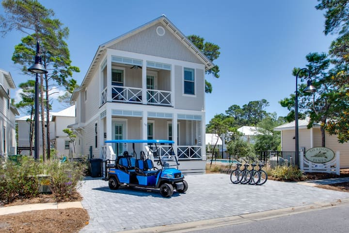Pool Next Door, Golf Cart, Bikes, Close to Beach and Gulf Place -  Blue Fin at Gulf Place 30A