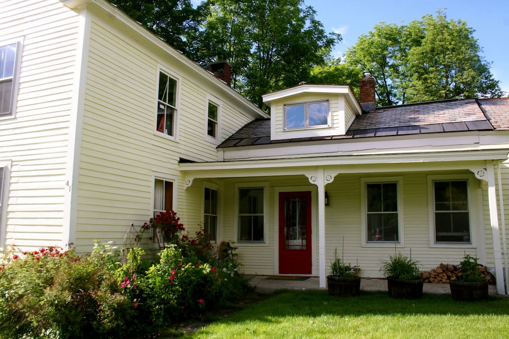 The dormer is over a window seat in the former servants' quarters, converted to a bedroom.