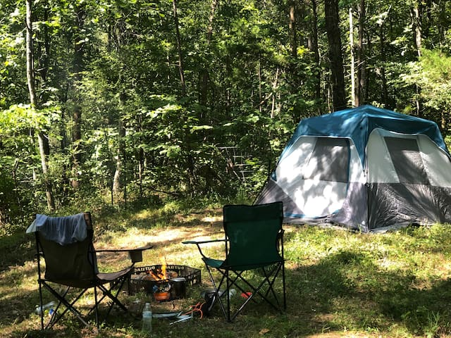 The Holler Hideaway CampSite at Three Rivers Farm