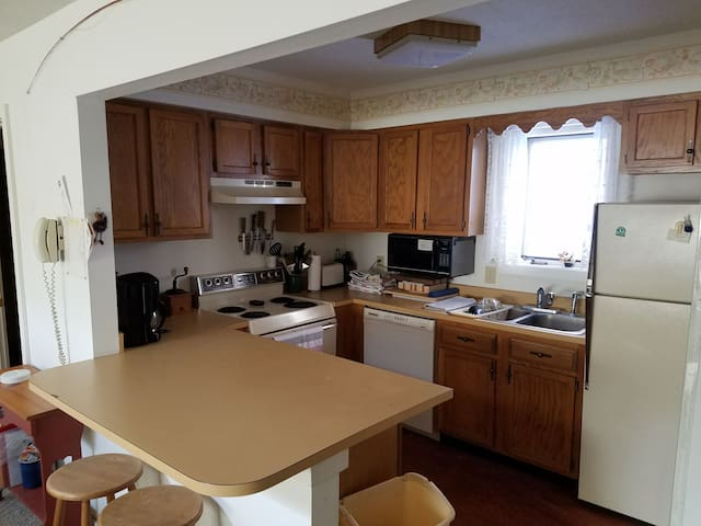 Kitchen with all basic necessities.